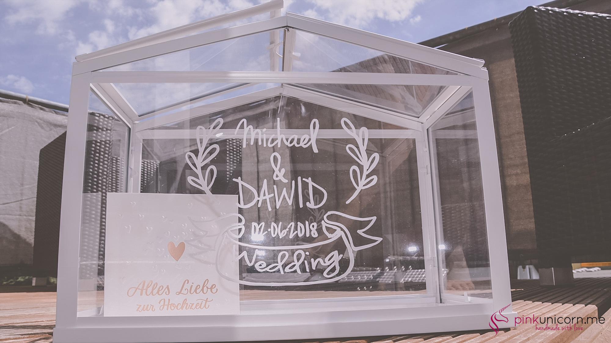 Hochzeitsgeschenk Gewächshaus