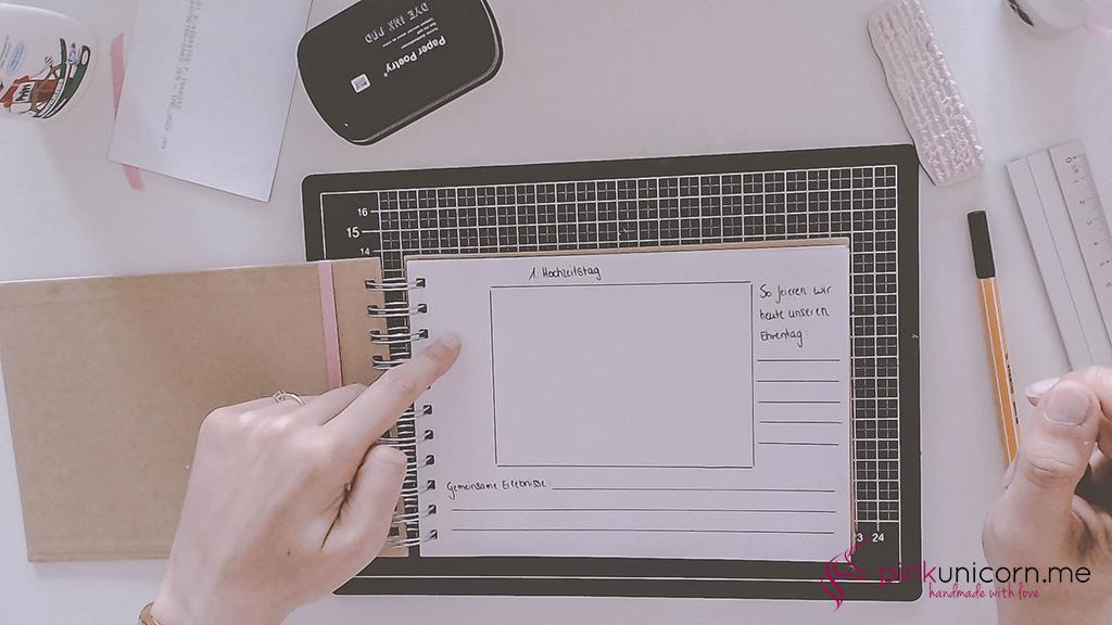 DIY Hochzeitsgeschenk - Hochzeitsbuch - Schritt 5a
